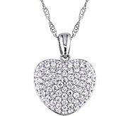 Affinity 14K White Gold 1/2 cttw Diamond HeartPendant w/Chain - J383694