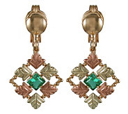 Black Hills Checkerboard Green Helenite Earring s, 10K/12K/14K - J106695