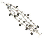 Michael Dawkins Sterling Silver Cultured Pearl Multi-Strand 8 Bracelet - J268795