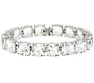 80.00 ct tw 8 Cushion Cut Quartz Sterling Tennis Bracelet - J290395