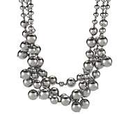 Kenneth Jay Lanes Simulated Pearl Cluster Necklace - J293295