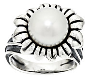 Carolyn Pollack Cultured Pearl & Citrine Sterling Flower Ring - J293795