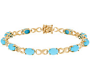 14K Gold 7-1/4 Sleeping Beauty Turquoise Bracelet - J295295