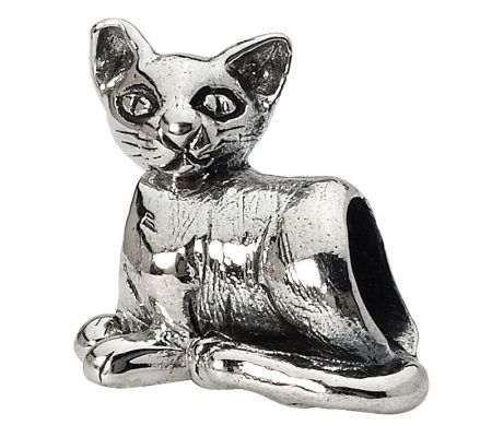 prerogatives sterling cat bead page 1 qvc