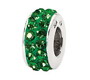 Prerogatives Sterling Green Double Row Swarovski Crystal Bead - J299595