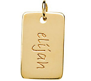 Posh Mommy 18K Gold-Plated Mini Dog Tag Pendant - J300095