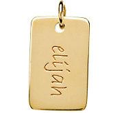 Posh Mommy 18K Gold-Plated Mini Dog Tag Pendant - J300095