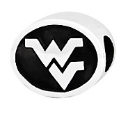 Sterling Silver West Virginia University Bead - J300795