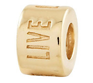 Prerogatives 14K Gold-Plated Sterling Live Laugh Love Bead - J302695