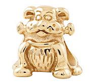 Prerogatives 14K Yellow Gold-Plated Sterling Dog w/Bone Bead - J302795