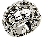 Stainless Steel Basket Woven Ring - J306795