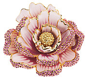 Joan Rivers Jeweled Blossoms Pave Peony Pin - J318695