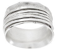 Sterling Silver Hammered Spinner Ring by Or Paz - J319795