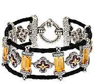 Barbara Bixby 24.00 cttw Multi-Gemstone Baguette Bracelet 7-1/4 - J320395