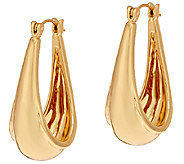 RLM Bronze Sculpted Hoop Earrings - J320995