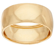 Vicenza Gold Polished 8mm Band Ring, 18K Gold - J321395