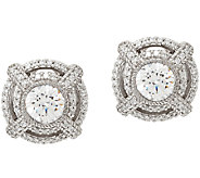 Judith Ripka Sterling 2.80 cttw Diamonique Earrings - J323395
