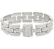 Judith Ripka Sterling Verona Stampato Magnet Clasp Bracelet - J323995
