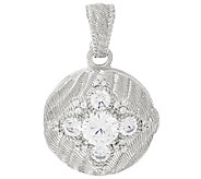 Judith Ripka Sterling Locket Enhancer - J325295