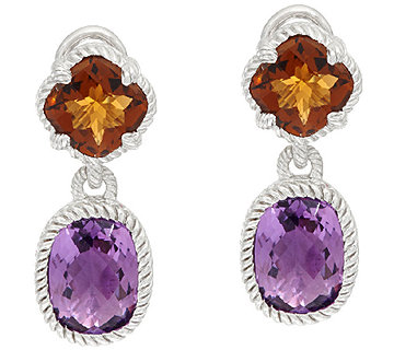 Judith Ripka Sterling 8.80 cttw Gemstone Drop Earrings - J326795