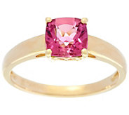 Cushion Cut Pink Tourmaline Ring, 14K Gold 1.30 ct - J329595