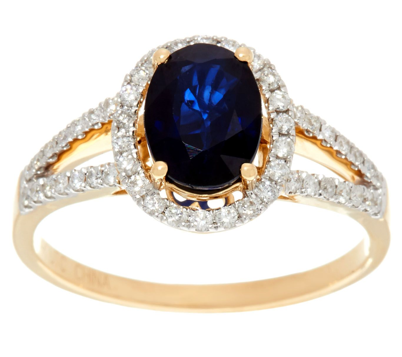 ring diamond gold com precious gemstone product hazy qvc ct