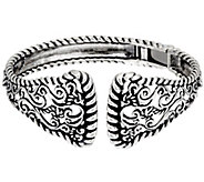 Carolyn Pollack Sterling Silver Signature Hinge Cuff 38.2g - J330795