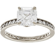 Diamonique Solitaire Eternity Ring, Sterling - J334695