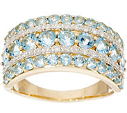 Santa Maria Aquamarine & Diamond Wide Band Ring, 14K 1.40 cttw - J335395
