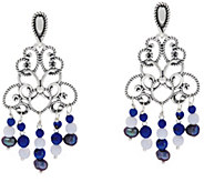 Carolyn Pollack Sterling Silver Gemstone Bead Dangle Earrings - J335895