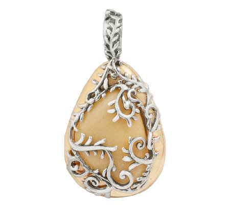 Carolyn pollack arbor vine sterling silver andbrass for Carolyn pollack jewelry qvc