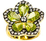 Graziela Gems Peridot Flower Ring, Sterling & 18K Yellow - J337095
