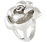 Stainless Steel Sculpted Rose Ring - J337795