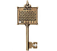 Brasstone Personalized Calendar Key Pendant - J337995