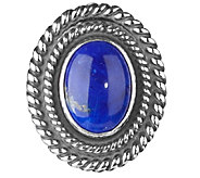 American West Treasures Sterling Lapis Magnetic Insert - J338095