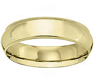 14K Gold 6mm Milgrain Comfort Fit Wedding BandRing - J340295