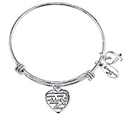 Sterling Expandable Mother Charm Bangle by Extraordinary Life - J340595