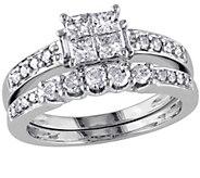 Cluster Diamond Ring Set, 14K White Gold, byAffinity - J340895