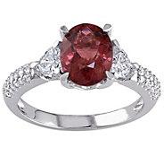 1.95 ct Tourmaline and 2/3 cttw Diamond Ring, 14K White Gold - J342495
