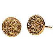 My Saint My Hero Benedictine Goldtone Stud Earrings - J342995