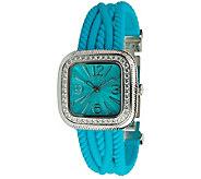 Judith Ripka Silicone Strap Watch - J343595