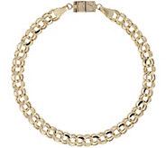 Click Secure 7-1/4 Double Link Bracelet 14K Gold 6.0g - J345695