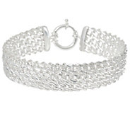 Sterling 6-3/4 Diamond Cut Woven Bracelet by Silver Style 13.8g - J346095