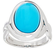 Oval Sleeping Beauty Turquoise Sterling Ring - J347995