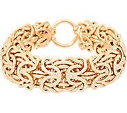 14K Gold 7-1/4 Bold Byzantine Bracelet, 26.5g - J348795