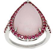 Pink Opal & Pink Tourmaline Sterling Pear Shaped Ring - J349695