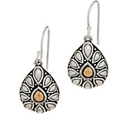 JAI Sterling Silver & 14K Gold Lotus Petal Drop Earrings - J351695