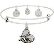 Alex and Ani Love Charm Bangle - J351895
