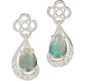 JMH Jewellry Sterling Silver Earrings with Opal Teardrops - J352695