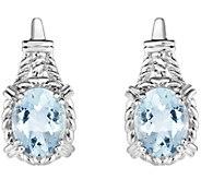 Sterling 3.00 cttw Aquamarine Earrings - J375795